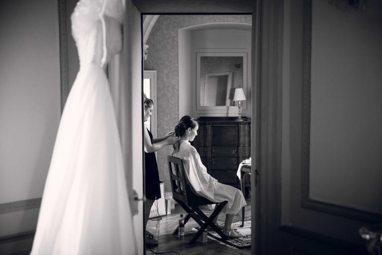 préparatifs au château de Chissay pour mariage
